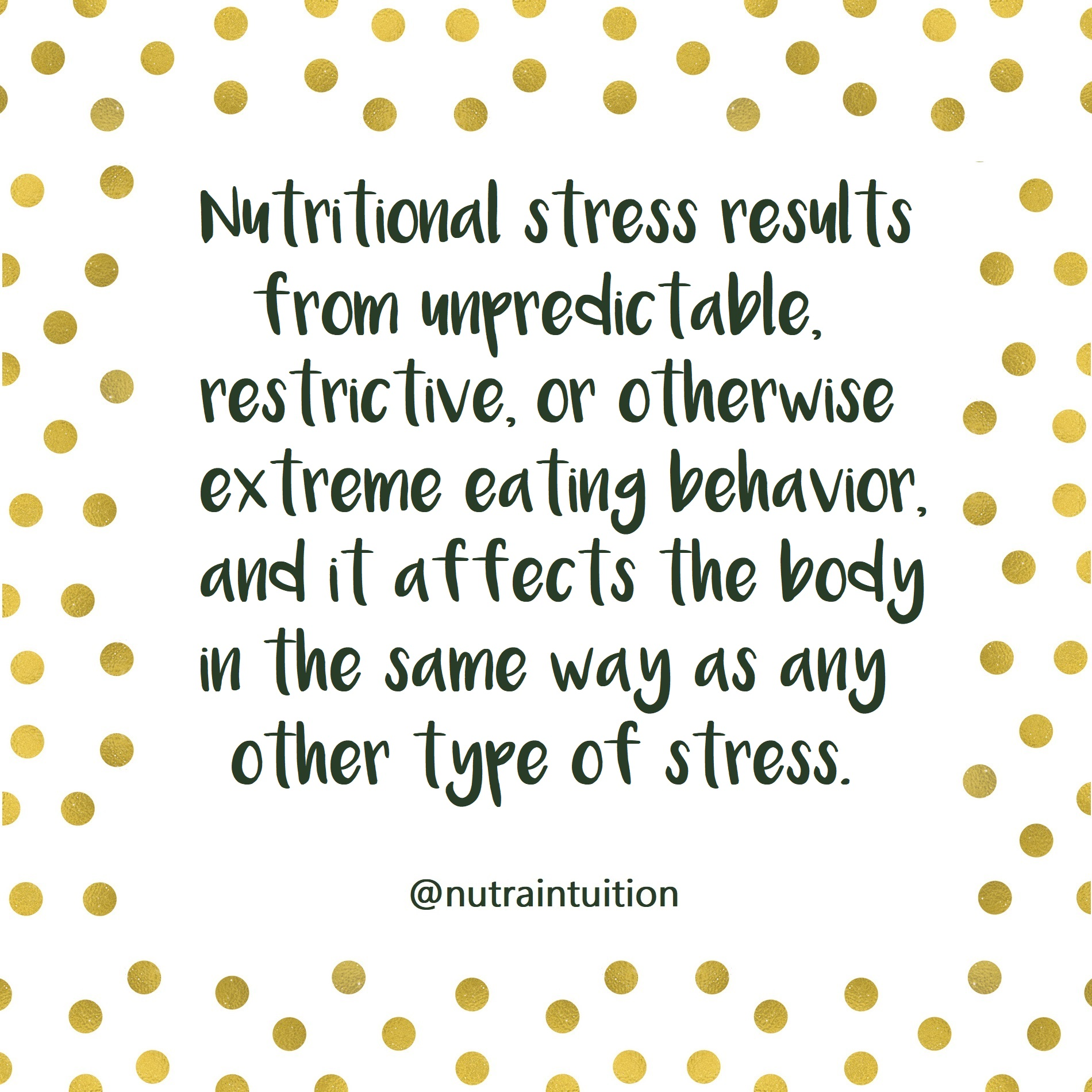 nutritional stress